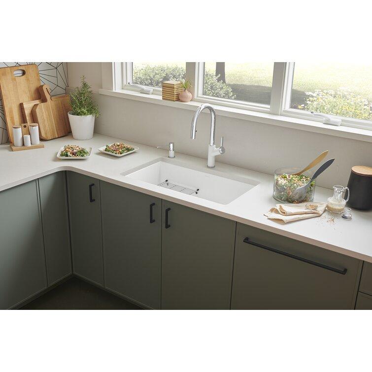 Blanco Precis Silgranit 30 L X 18 W Undermount Kitchen Sink Reviews Wayfair