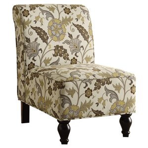 Floral Traditional Slipper Chair by Monarch Specialties Inc.