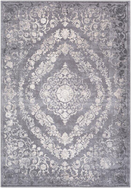 charlton home thissell vintage persian medallion gray area rug  u0026 reviews