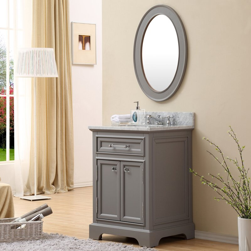 Colchester 24 Single Sink Bathroom Vanity Set With Mirror