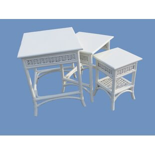 Spice Islands Wicker Regatta 3 Piece Nesting Table Set