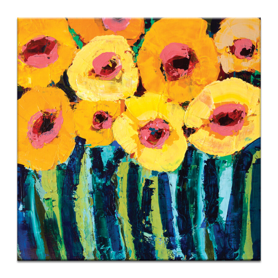 Poppies by Anna Blatman Art Print Wrapped on Canvas