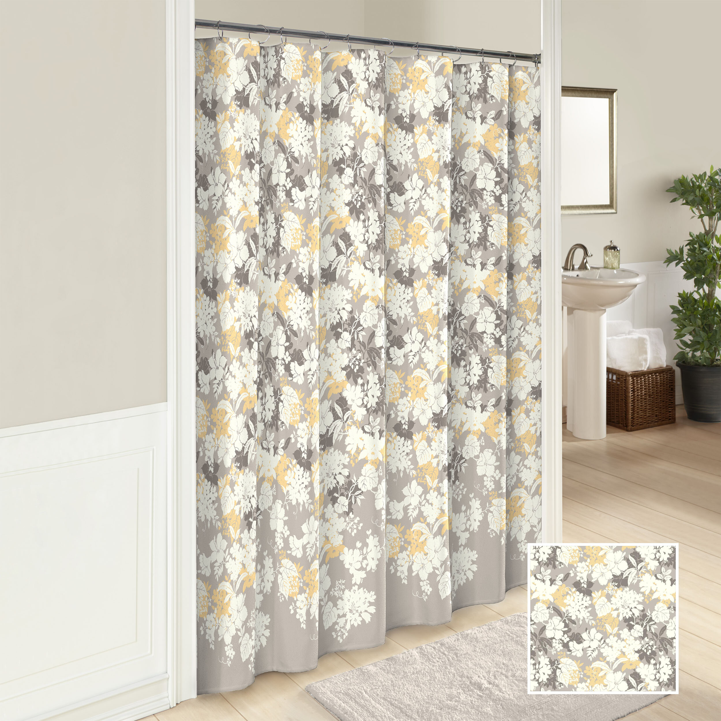 Rumph 100 Cotton Single Shower Curtain