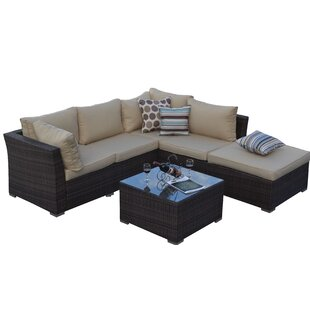 Garden 5 Piece Sectional Set with Cushions by W Unlimited