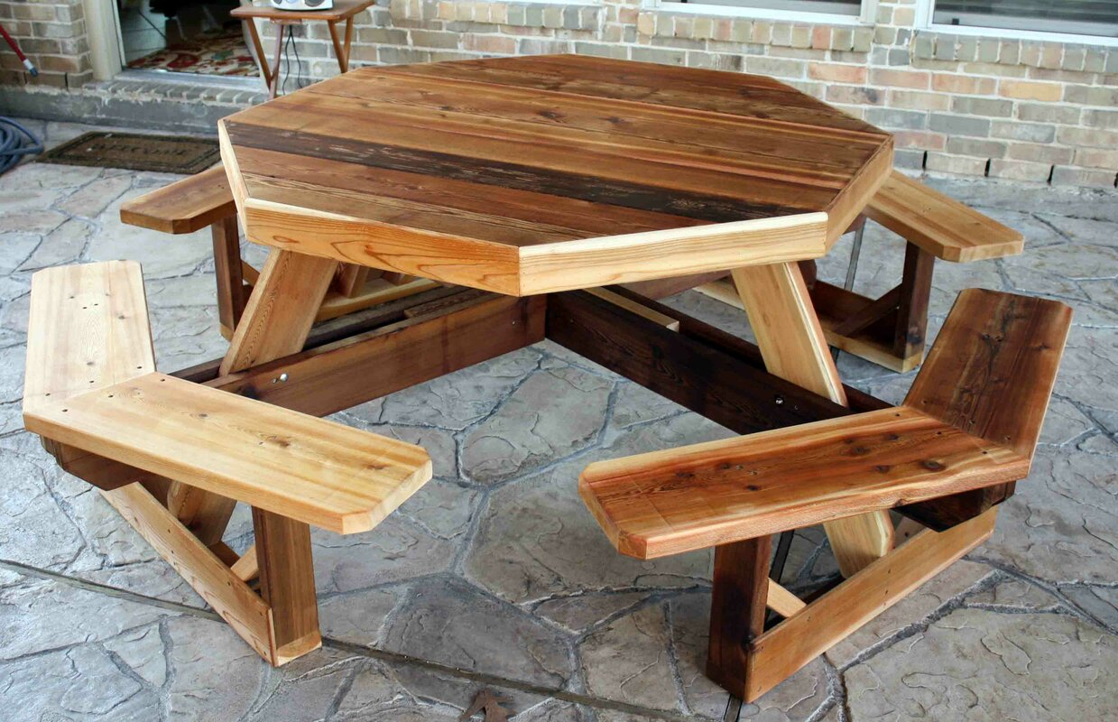 Western Cedar Octagon Picnic Table