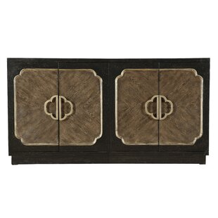 Eleah Traditional Distressed 4 Door Credenza