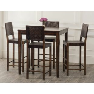 Gambino 5 Piece Pub Table Set by Bloomsbury Market