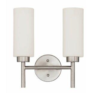 Ebern Designs Almon 2-Light Armed Sconce