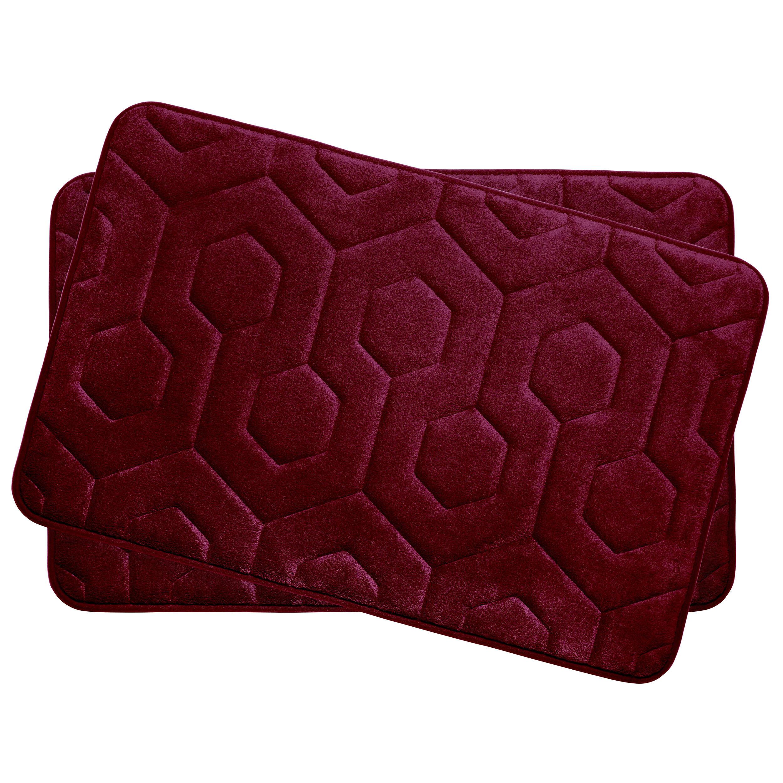 mats rug piece mat zebra purple slippery amazoncom bathroom anti l bamboo set bath w x
