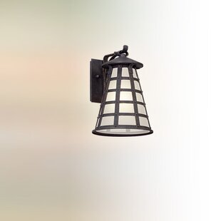 Comparison Neelesh 1-Light Glass Shade Outdoor Wall Lantern By 17 Stories