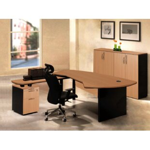 Executive Management 5 Piece L-Shaped Desk Office Suite by OfisELITE 2019 Sale