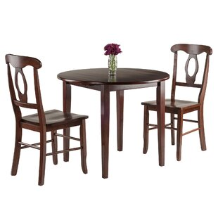 Kendall 3 Piece Drop Leaf Dining Set by Alcott Hill Design