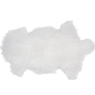 Buy Irving Sheepskin Mongolian White Area Rug By Union Rustic