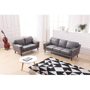 Westbury Modern Luxurious 2 Piece Leather Living Room Set by George Oliver