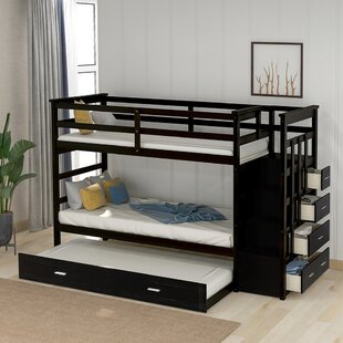Peay Solid Wood Twin over Twin Triple Bed by Harriet Bee