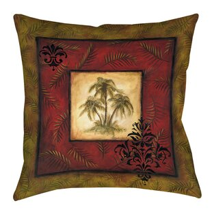 Palm Breezes Printed Throw Pillow