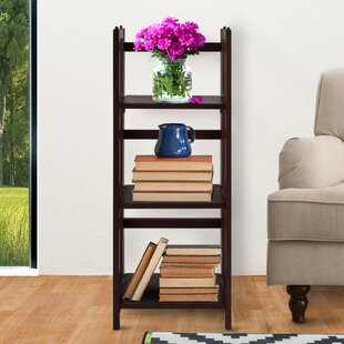 3 Shelf Folding Stackable Standard Bookcase by Casual Home Design