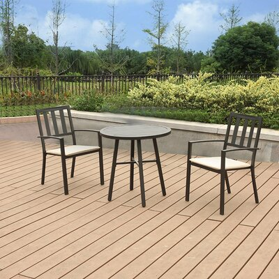 Addileigh Steel 3 Piece Bistro Set  With Cushions by Latitude Run Today Only Sale