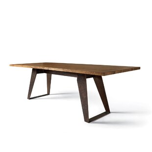 Benjamin Fixed Oblique Metal Legs Dining Table