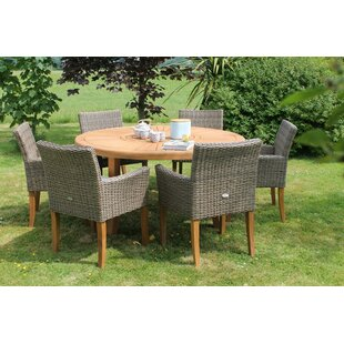 Trudell 6 Seater Dining Set With Cushions By Sol 72 Outdoor