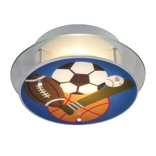 Zoomie Kids Brennan Sports Theme Semi Flush Mount
