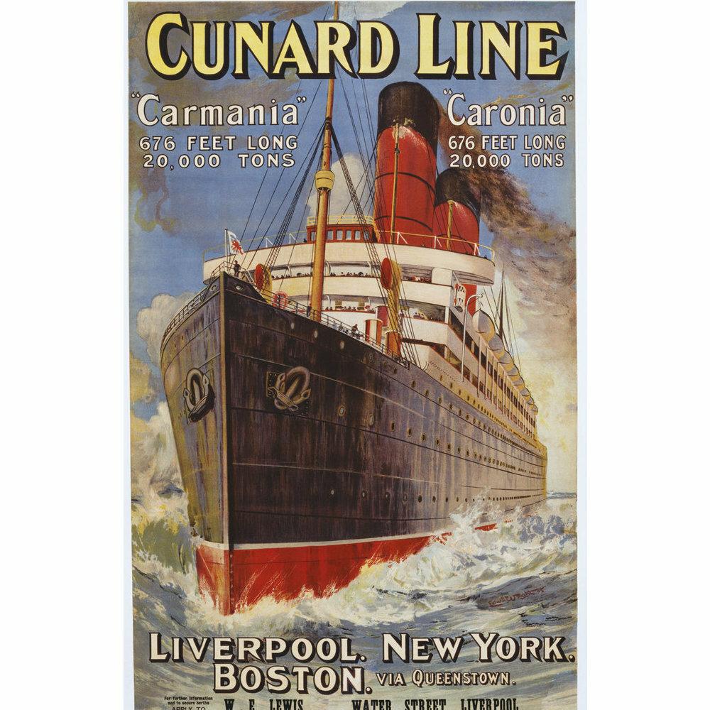 Cunard Ocean Liner Vintage Art Deco Giclee Poster Print ENGLAND CUNARD TRAVEL 19