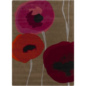 Caper Gray & Red Area Rug