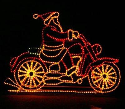 The holiday aisle animated motorcycle santa rope light reviews the holiday aisle animated motorcycle santa rope light reviews wayfair aloadofball Images