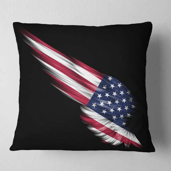 East Urban Home Abstract Wing With American Flag Pillow Wayfair
