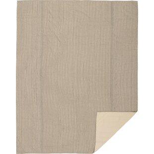 August Grove Surikova Single Reversible Farmhouse Striped Coverlet