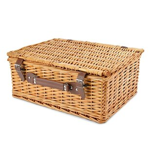 Wicker Picnic Basket, Service for 4