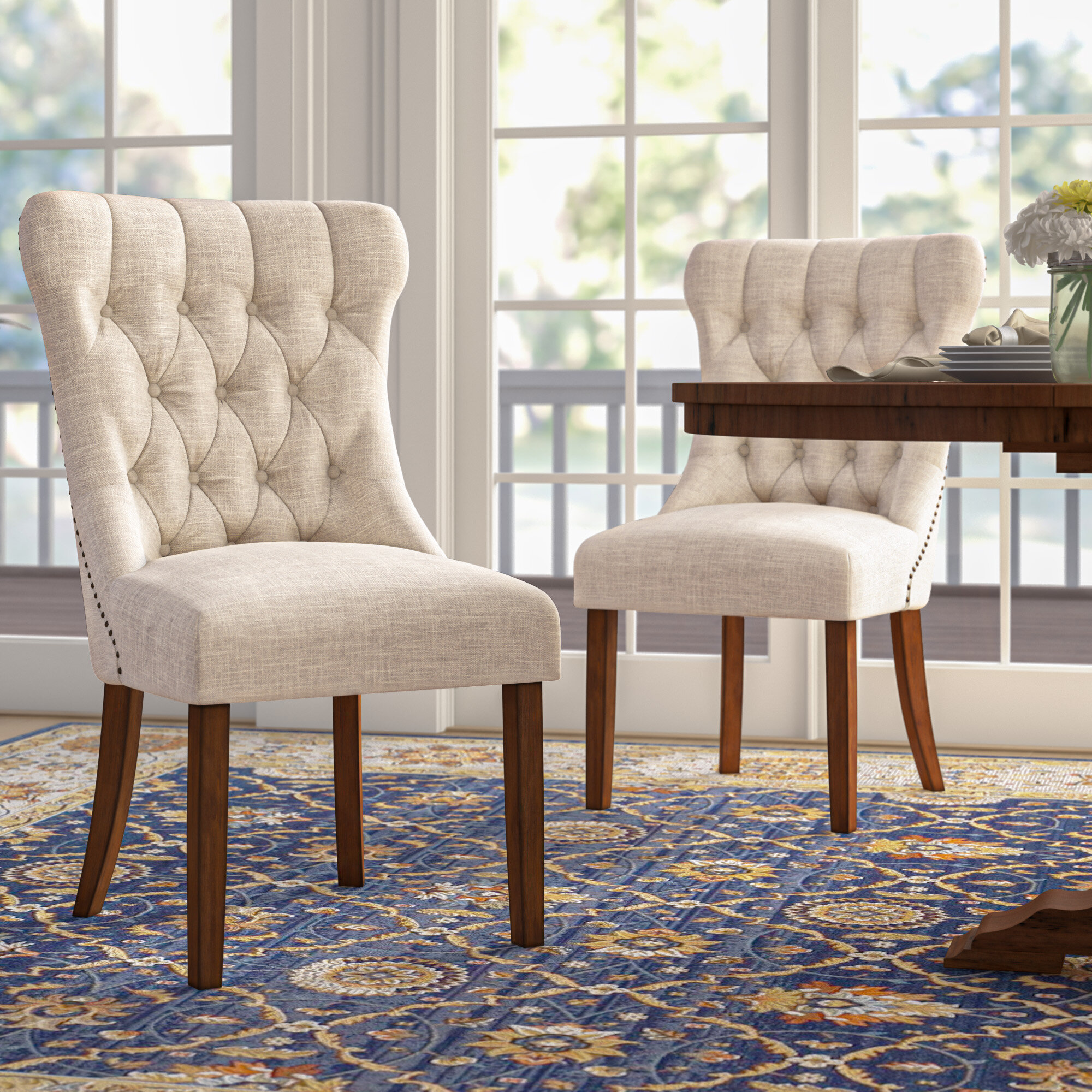 Darby Home Co Seaton Upholstered Dining Chair Reviews Wayfair