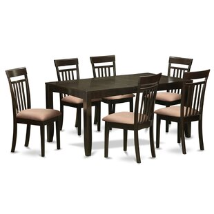East West Furniture Lynfield 7 Piece Extendable Dining Set
