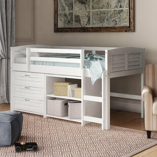 Evan Twin Low Loft Bed with Drawers