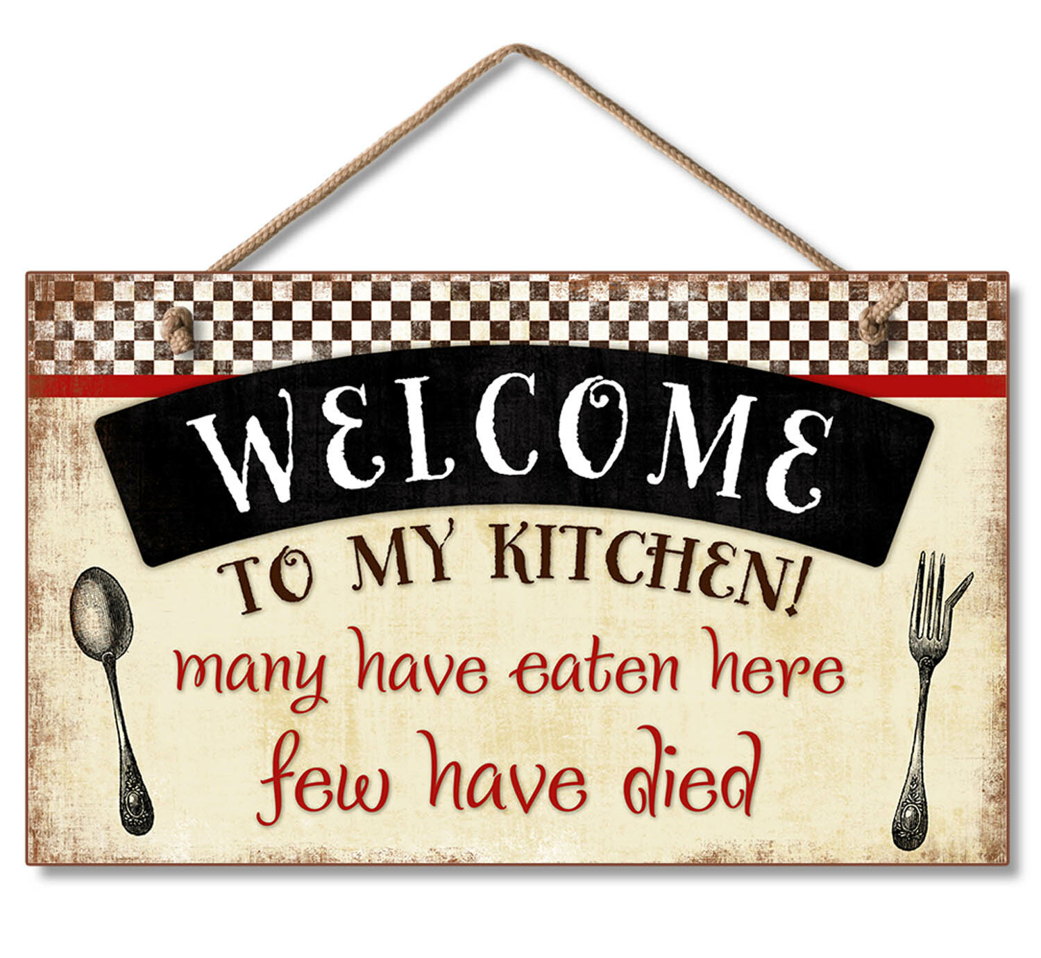 Winston Porter Welcome To My Kitchen Decorative Wood Hanging Wall Decor Reviews Wayfair