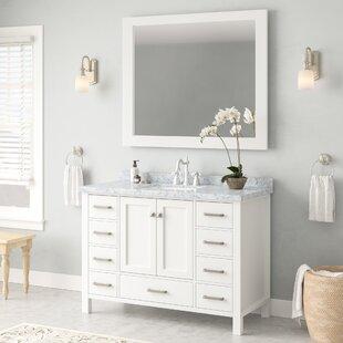 Price Check Marine 49 Single Rectangle Bathroom Vanity with Mirror ByAndover Mills