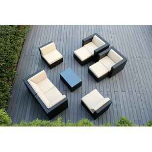 Bannan 9 Piece Sunbrella Sectional Seating Group with Cushions