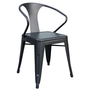 Haddix Metal Dining Chair (Set of 4) by W..