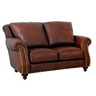 Randolph Leather Loveseat by Westland and..