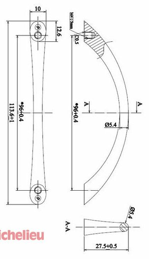 Richelieu Expression 3 3 4 Center To Center Arch Pull Wayfair