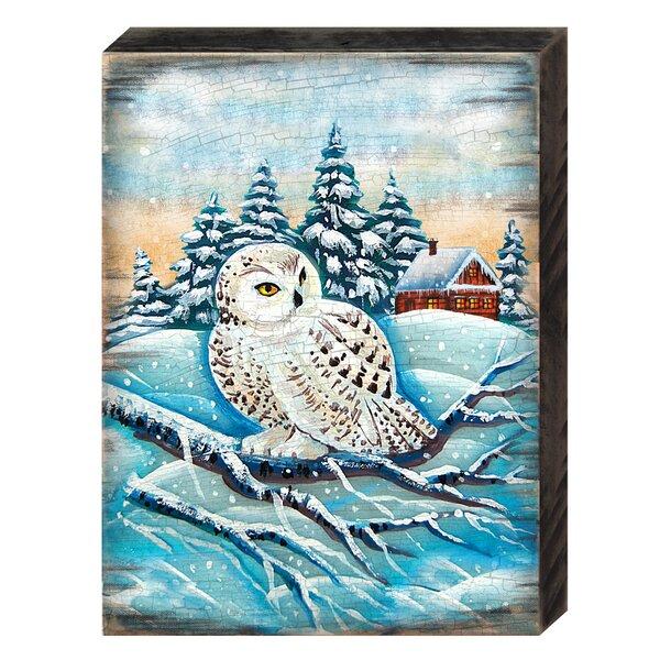 August Grove Lokki Owl Wood Block Wayfair