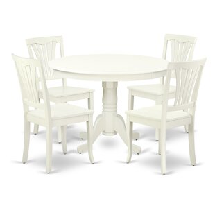 Kuehl 5 Piece Solid Wood Breakfast Nook Dining Set