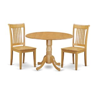 Spruill 3 Piece Drop Leaf Breakfast Nook Solid Wood Dining Set Looking for