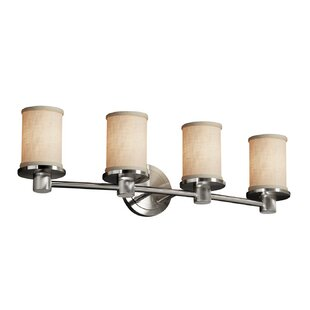Latitude Run Red Hook 4 Light LED Cylinder w/ Flat Rim Vanity Light