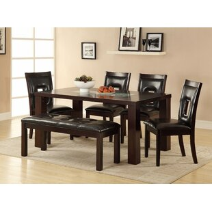 Bishop 6 Piece Solid Wood Dining Set Red Barrel Studio