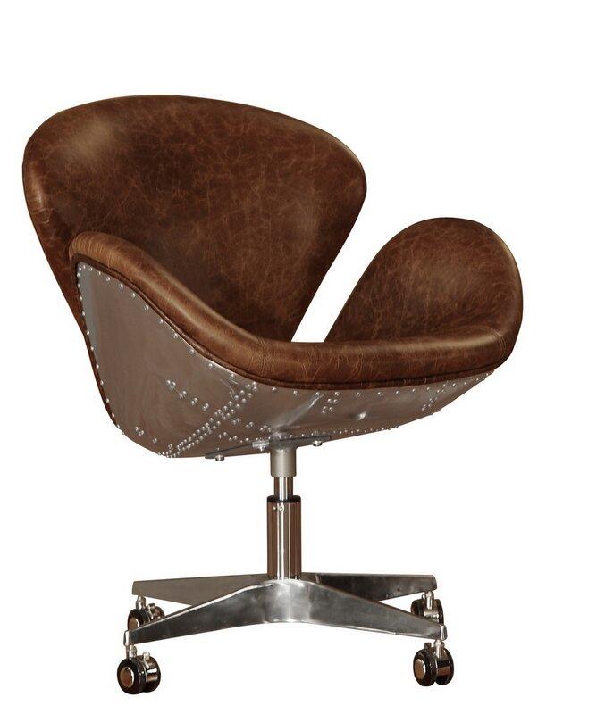 Captivating Timeless Bomber Leather Desk Chair