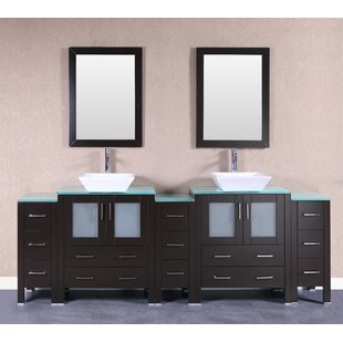 Lucy 96 Double Bathroom Vanity Set with Mirror by Bosconi