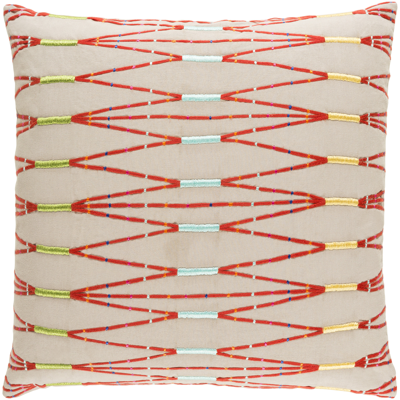 Brussels Cotton Geometric Throw Pillow Reviews Joss Main