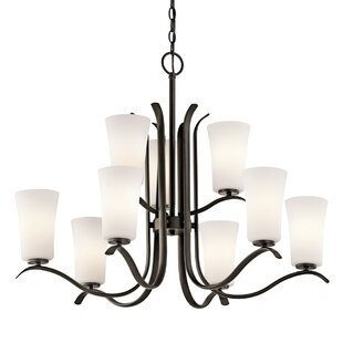 Alcott Hill Guerro 9-Light Shaded Chandelier