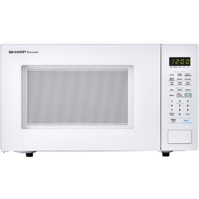 """Sharp Carousel 21"""" 1.4 cu.ft. Countertop Microwave  Color: White"""